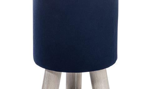Taburetka 3Leg, modrá