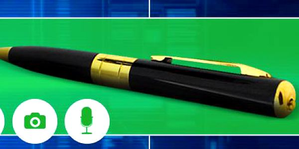 Špionské pero s kamerou a foťákem. Nahraje video, zvuk a umí fotit!
