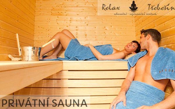 Pronájem PRIVÁTNÍ SAUNY pro DVA na celých 90 minut! Relax v soukromí pouze pro vás! Přijďte si odpočinout do oblíbeného Relax centra Třebešín u stanice metra Želivského!!
