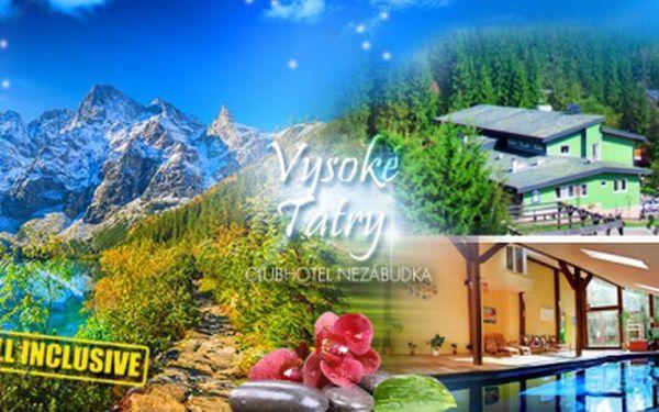 Vysoké Tatry, hotelový Resort Nezábudka**** a pobyt ALL INCLUSIVE s WELLNESS, BAZÉNEM a PROCEDUROU!