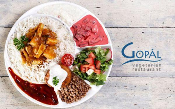 SNĚZTE, KOLIK MŮŽETE v nejznámější vegetariánské restauraci GOPÁL! Ochutnejte skvělá bezmasá jídla inspirovaná Indií a připravená z těch nejčerstvějších surovin od českých farmářů! Restaurace v samém centru Prahy pod Pražským hradem!!