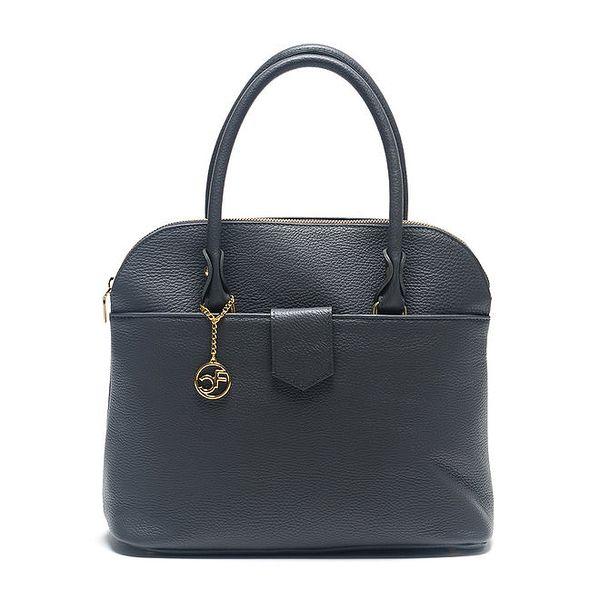 Dámská šedá kožená kabelka s řetízkem Carla Ferreri
