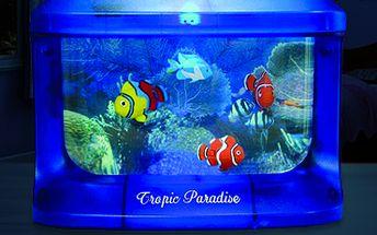 Svítící akvárium s rybičkami: perfektní dekorace nejen do dětského pokoje!