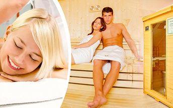 Romantický wellness balíček pro dva, 15 min. od Prahy, salonu Mělníka, 2 hodiny relaxace a romantiky! Šampaňské, jahody, svíčky, infrasauna, masáž, exkluzivní levandulové ošetření nohou a k tomu zdarma poukaz na další masáž pro dva!