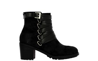 Dámské černé kotníčkové boty s páskem Shoes and the City