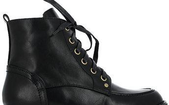 Dámské černé kotníkové šněrovací boty Shoes and the City