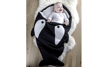 Úžasný dětský spací pytel (98x73cm) - černá kosatka