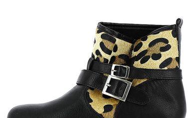 Dámské kotníkové boty s leopardím vzorem Shoes and the City
