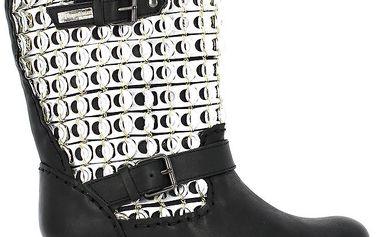 Dámské černé boty s plíšky Shoes and the City
