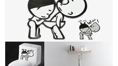 Originální samolepka na WC