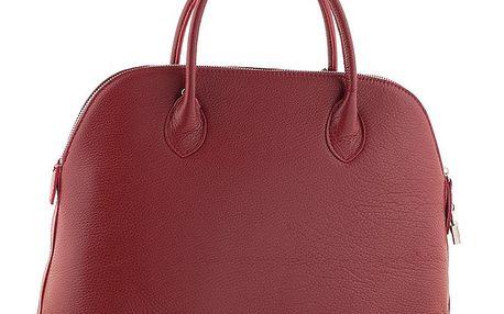 Dámská červená kožená kabelka Ore 10