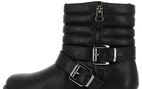 Dámské černé kotníkové boty se zipem Shoes and the City