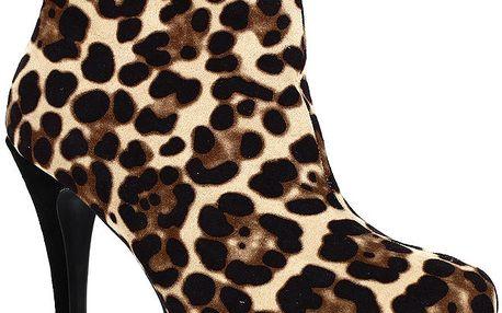 Dámské boty na podpatku s leopardním vzorem Shoes and the City