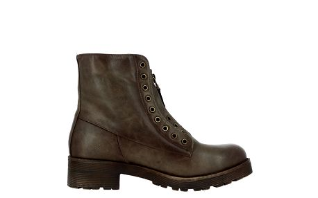 Dámské hnědé kotníkové boty se zipem Shoes and the City