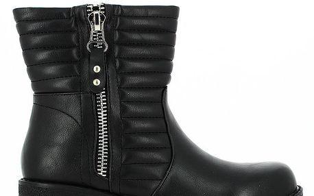 Dámské černé nízké kozačky se zipem Shoes and the City