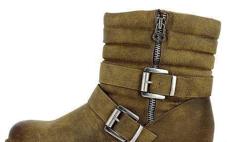 Dámské prošívané kotníkové boty se zipem Shoes and the City