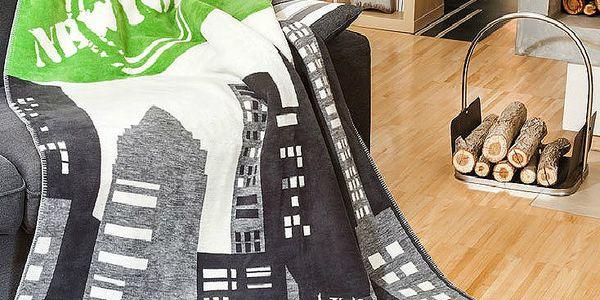 Greno Fleecová deka New York limetka 150 x 200 cm