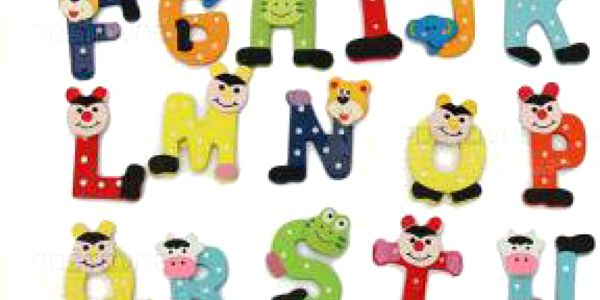 Veselé magnetky na lednici - abeceda