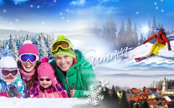 Aktivní zimní dovolená v srdci ŠUMAVY! 4 DNY pro 4 OSOBY v kompletně vybaveném APARTMÁNU s kuchyňkou!