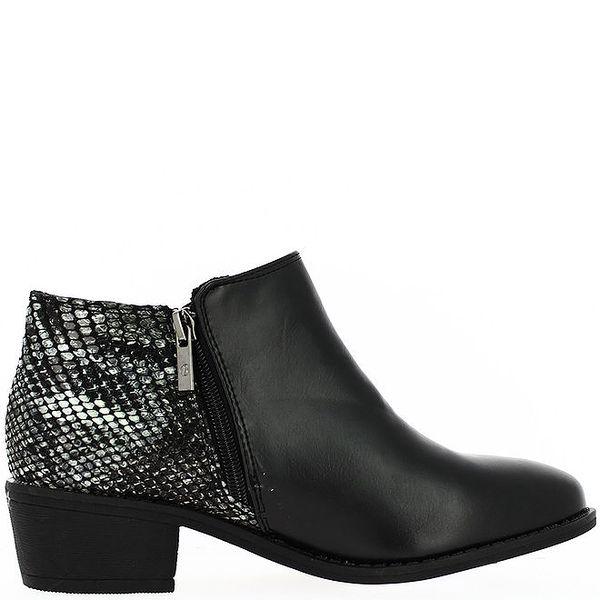 Dámské kotníčkové boty se vzorovanou patou Bellucci