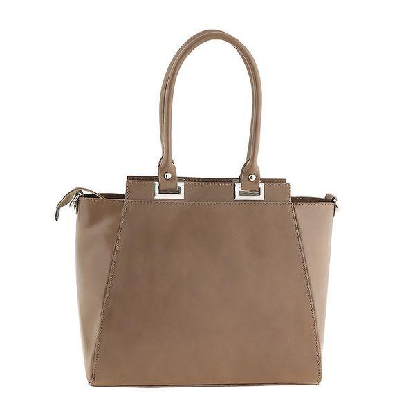 Dámská kožená kabelka s pevnými poutky Ore 10 - velbloudí odstín b594fe1f66d