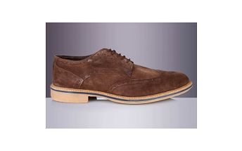Pánské hnědé boty s proužkem Roamers