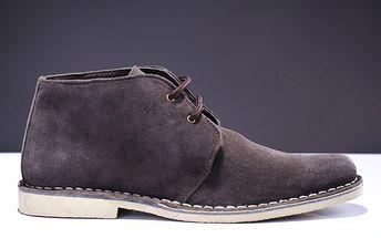 Pánské tmavě hnědé kotníčkové boty Roamers