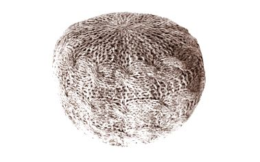 Sedací puf Artic, žíhaný