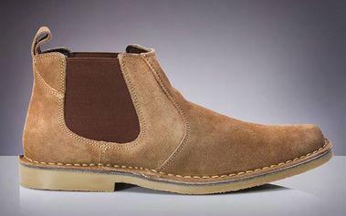 Pánské béžové chelsea boty Roamers