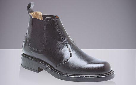 Pánské černé chelsea boty Roamers