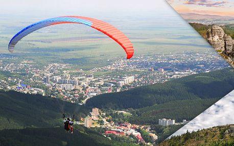 Paraglidingové tandemové lety nad krásami Česka