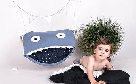 Dětský spací pytel (98x73cm) - modrý