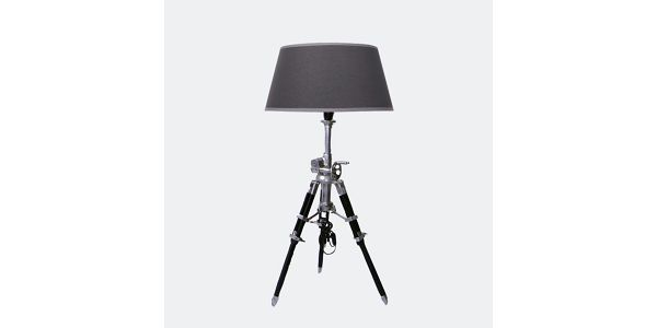 Stojací lampa Hamilton, černá