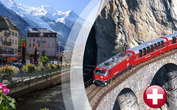 Švýcarské Alpy a láznění v Bormiu v poznávacím zájezdu na 6 dní