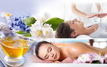 RELAXAČNÍ BALÍČEK s medovou masáží zad, levandulovou masáží obličeje, aromaterapií a REIKI léčením!