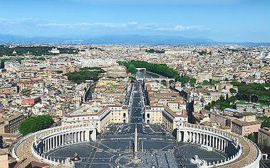 Letecky do Říma: 4denní zájezd s ubytováním ve 2-3* hotelu