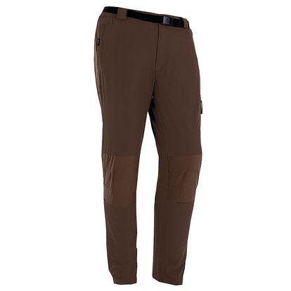 Pánské hnědé outdoorové kalhoty s páskem Izas
