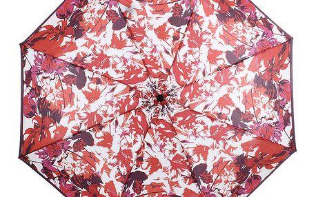 Dámský skládací vystřelovací deštník s květinami Ferré Milano