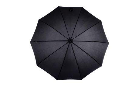 Dámský vystřelovací černý deštník s dřevěnou rukojetí Ferré Milano