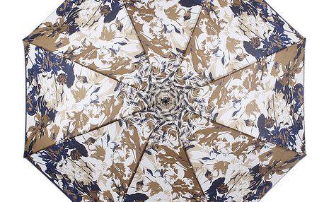 Dámský vystřelovací deštník s modrými květy Ferré Milano
