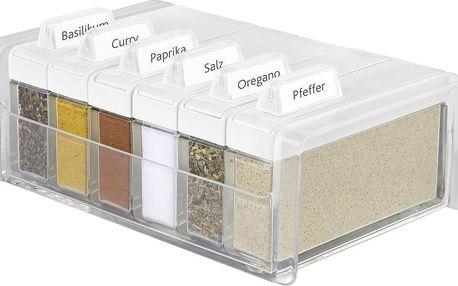 Box na koření s 6 přihrádkami Spice Box, bílý