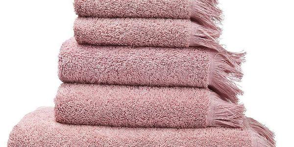 Set 8 růžových bavlněných ručníků a osušek Casa Di Bassi Bath - doprava zdarma!