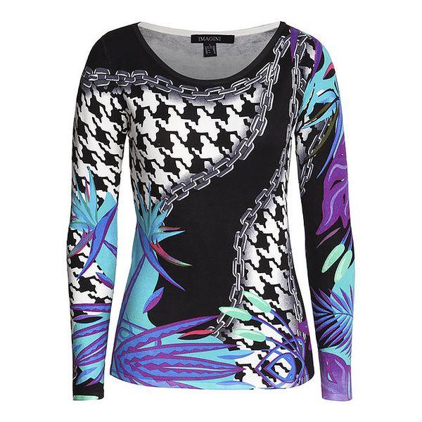 Dámský barevný svetr s potiskem Imagini