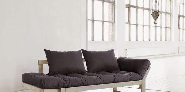 Sofa Edge, přírodní/šedá