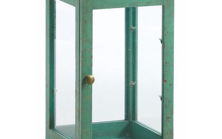 Prosklená vitrínka Cabinet, zelená