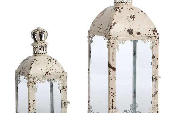 Sada 2 luceren Antique 57 a 40 cm, bílé