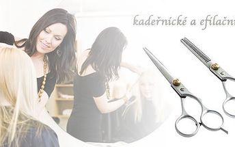 Sada kadeřnických a efilačních nůžek - kvalitní nůžky z chirurgické oceli. Jsouvhodné jakpro amatérské tak i profesionální stříhání.Ušetřete za kadeřníka a zastřihněte si vlasy doma.