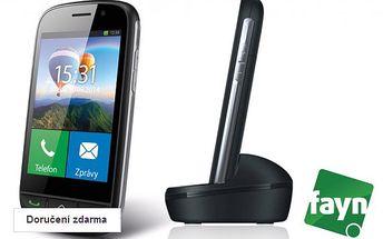 Seniorský telefon s kreditem 400 Kč