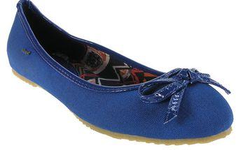 Dámské modré balerínky s mašličkou Beppi