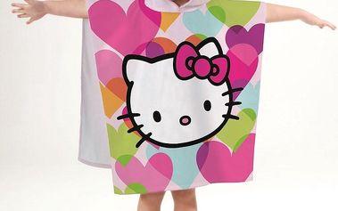 Up and Down dětské pončo Hello Kitty Mimi Love Polka, 60 x 120 cm